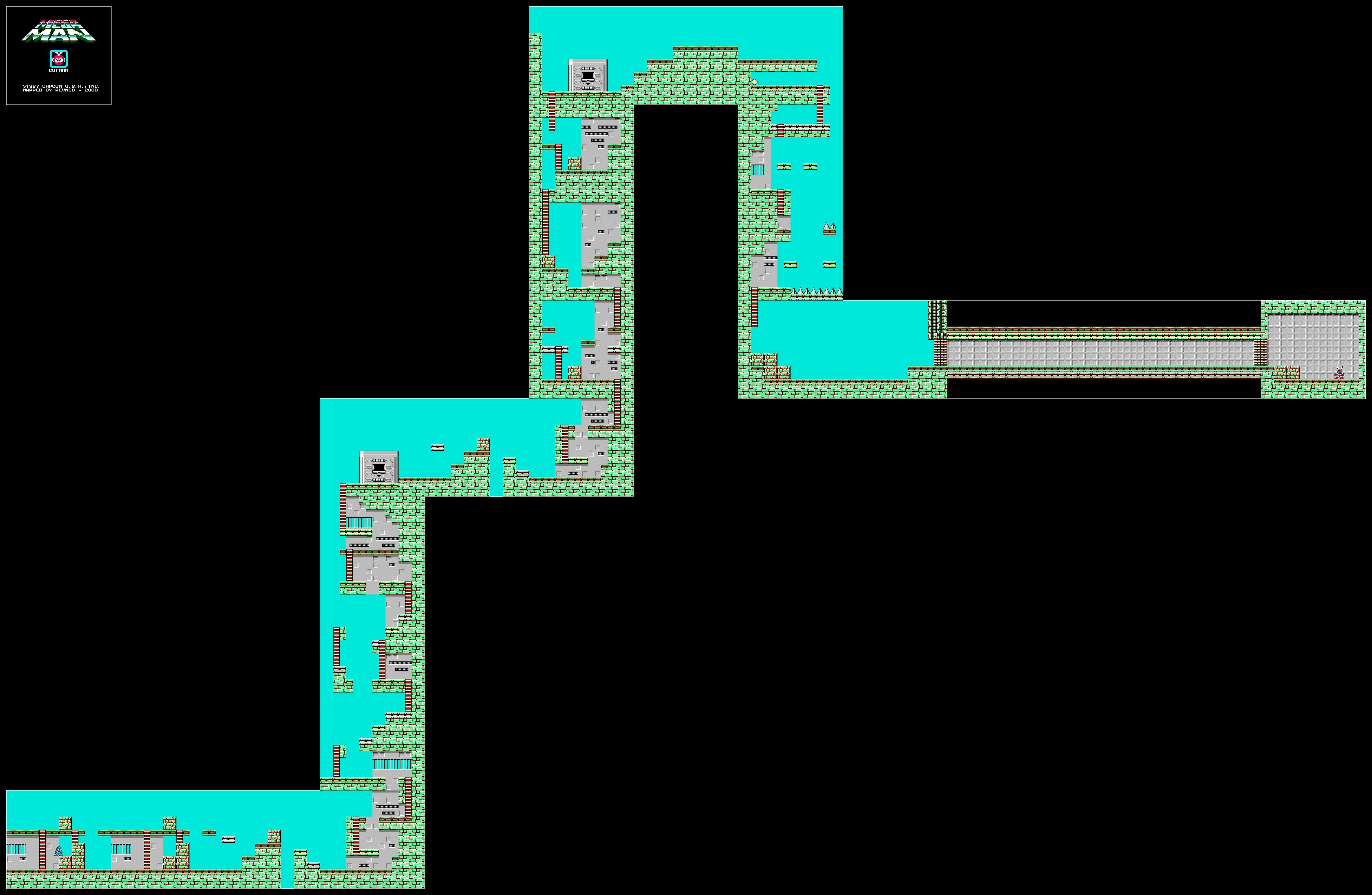 Revned S Video Game Maps Mega Man