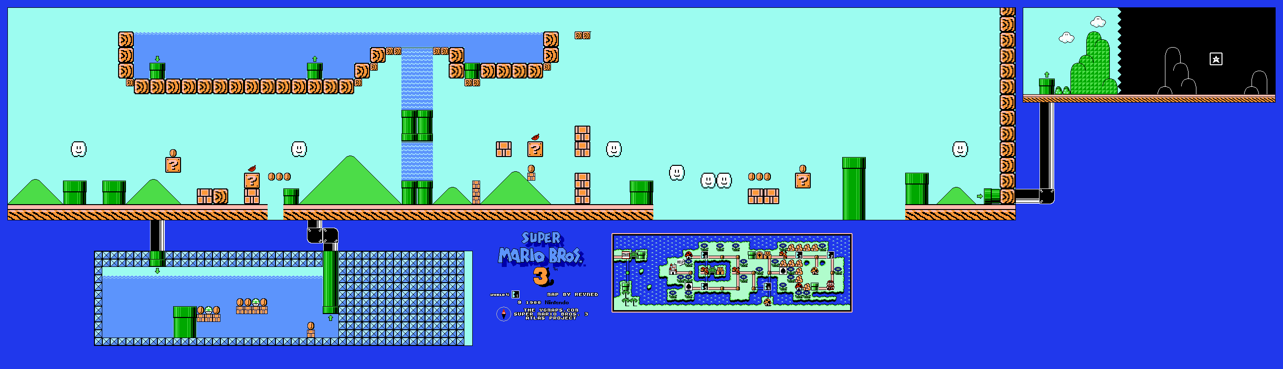 Mario 3 World Map.Revned S Video Game Maps Super Mario Bros 3