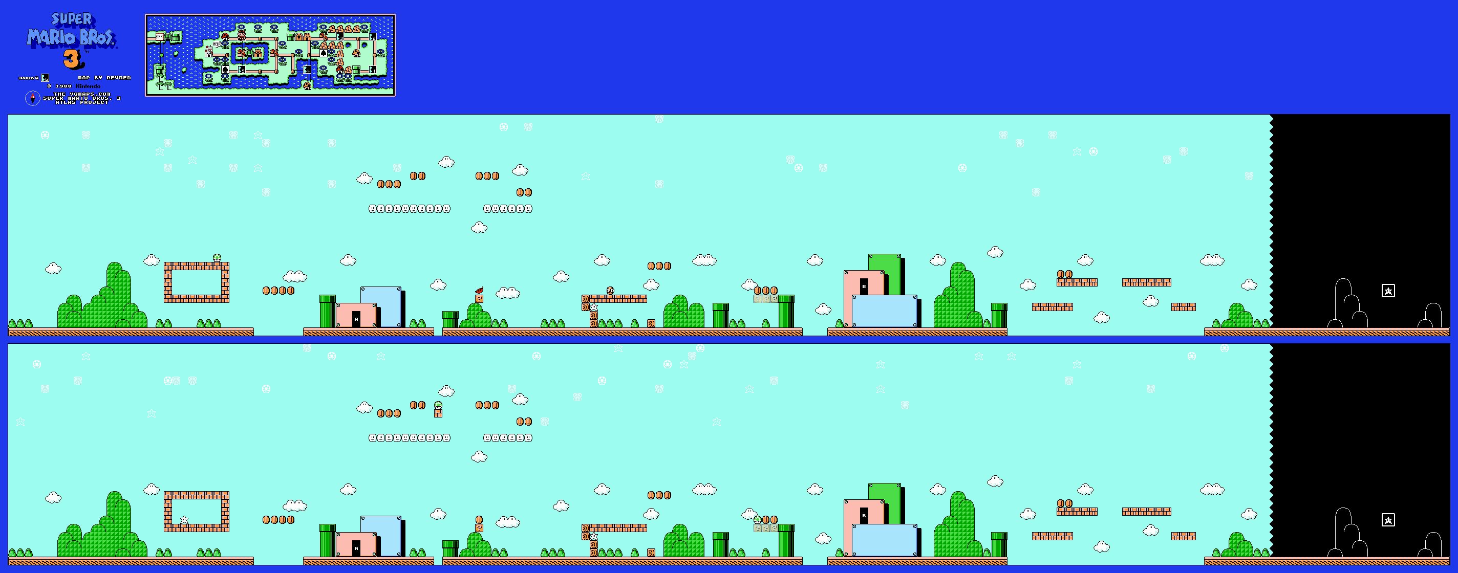 Super Mario Bros 3 Revned S Video Game Maps